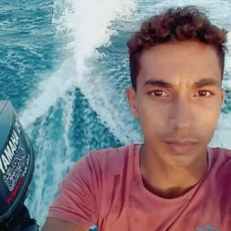 الشهيد اسماعيل ابو ريالة في بحر غزة