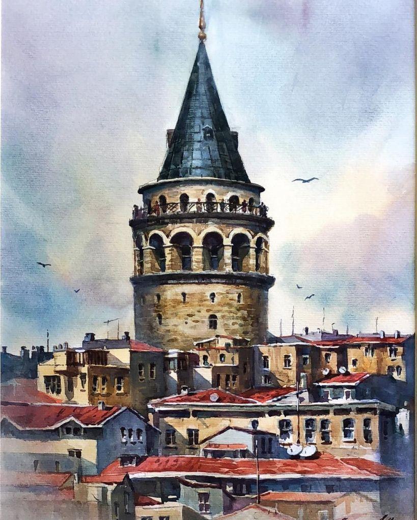 إسطنبول في رسمة تجريدة
